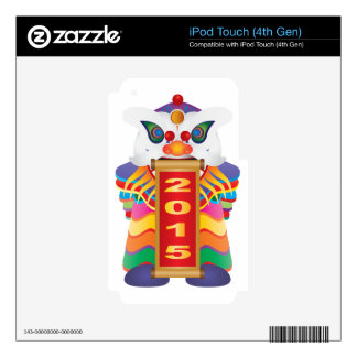 Danza de león china del Año Nuevo con la voluta iPod Touch 4G Skin
