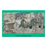 Danza de león por Kitagawa, Utamaro Impresiones