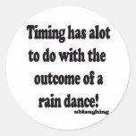 danza de lluvia etiqueta redonda