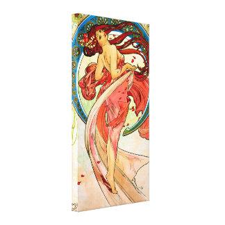 Danza de los artes impresión en lienzo estirada