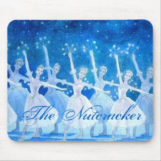 Danza de los copos de nieve Mousepad Alfombrillas De Raton