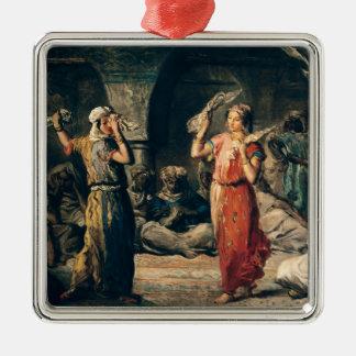 Danza de los pañuelos, 1849 adorno navideño cuadrado de metal