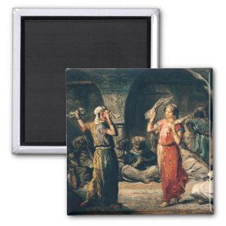 Danza de los pañuelos, 1849 imán cuadrado