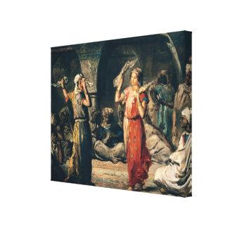 Danza de los pañuelos, 1849 impresión en lienzo estirada
