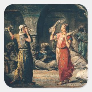 Danza de los pañuelos, 1849 pegatina cuadrada