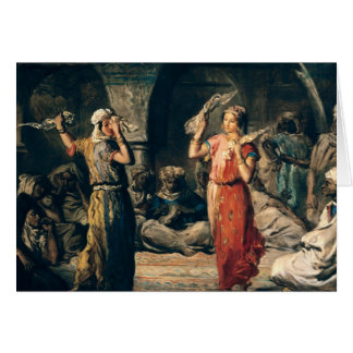 Danza de los pañuelos, 1849 tarjeta de felicitación