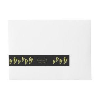 Danza de los Seahorses (amarillo) Etiquetas Postales
