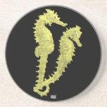 Danza de los Seahorses (amarillo) Posavasos Diseño