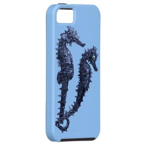 Danza de los Seahorses (azules) iPhone 5 Funda