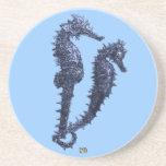 Danza de los Seahorses (azules) Posavasos Manualidades