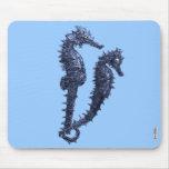 Danza de los Seahorses (azules) Alfombrillas De Raton