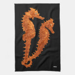 Danza de los Seahorses (naranja) Toallas