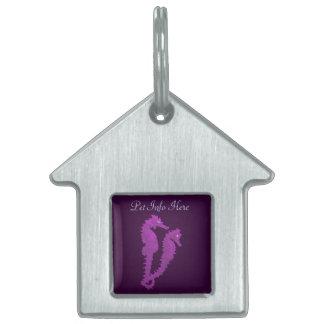 Danza de los Seahorses (púrpuras) Placa Mascota