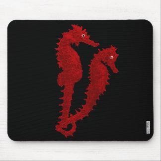 Danza de los Seahorses (rojos) Alfombrillas De Raton