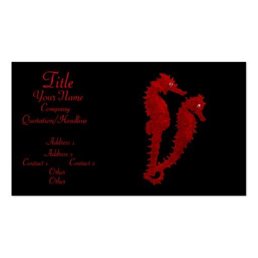 Danza de los Seahorses (rojos) Tarjetas De Visita