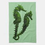 Danza de los Seahorses (verde) Toalla