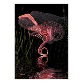 Danza de medianoche del flamenco rosado - artista tarjetas de visita grandes