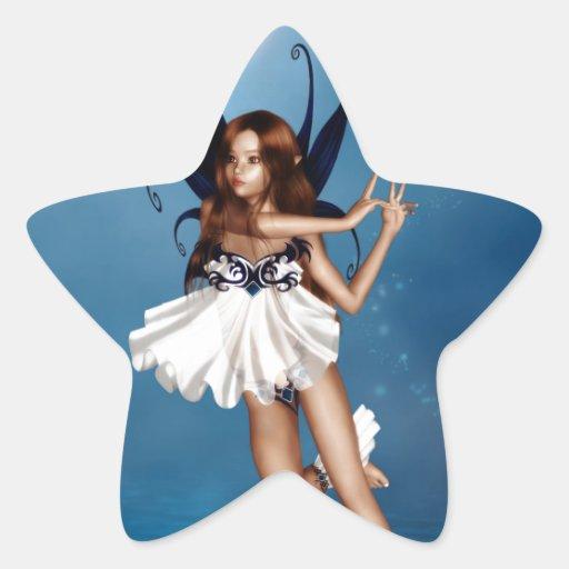 Danza de medianoche pegatina forma de estrella personalizada