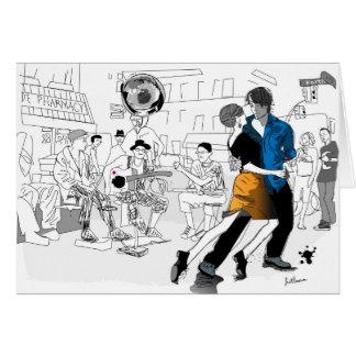 Danza de New Orleans Tarjetón