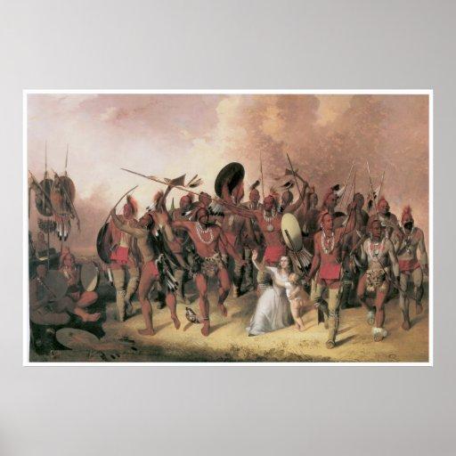 Danza de Osage, 1845 Impresiones