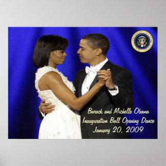 Danza de presidente Obama Inauguration Ball Openin Poster