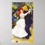 Danza de Renoir en el poster de Bougival Póster