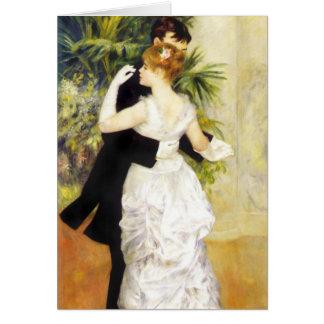 Danza de Renoir en la tarjeta de nota de la ciudad