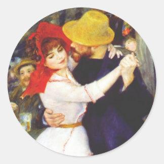 Danza de Renoir en los pegatinas de Bougival Pegatina Redonda