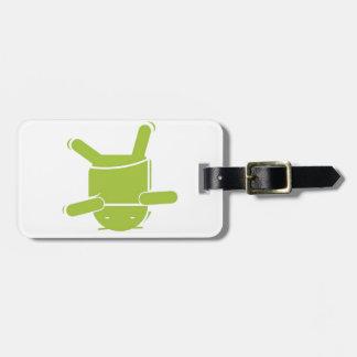 Danza de rotura androide etiquetas para maletas