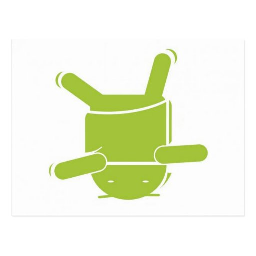 Danza de rotura androide tarjeta postal