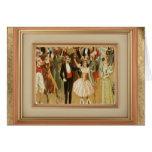 Danza de salón de baile del vintage Notecard de sa