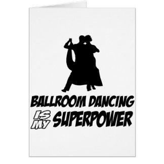 danza de salón de baile tarjeta de felicitación