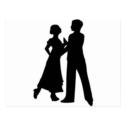 Danza de salón de baile tarjeta postal
