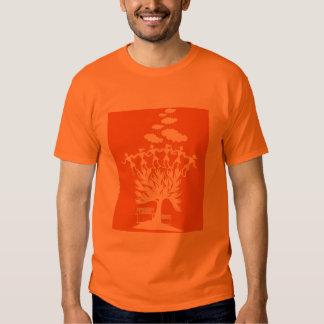 Danza de Warli - camiseta india del arte popular Playera