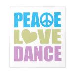 Danza del amor de la paz blocs de notas