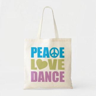 Danza del amor de la paz bolsa tela barata