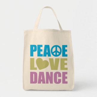 Danza del amor de la paz bolsas lienzo