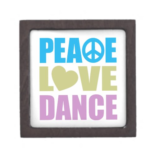 Danza del amor de la paz caja de joyas de calidad