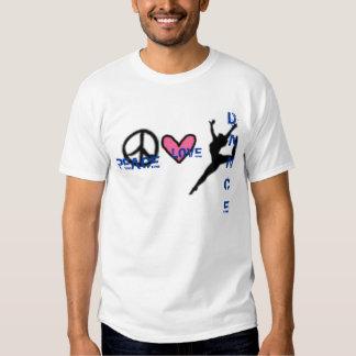 Danza del amor de la paz camisas