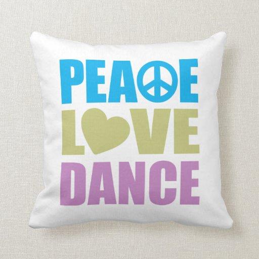 Danza del amor de la paz cojines