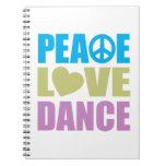 Danza del amor de la paz cuadernos