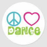Danza del amor de la paz etiqueta