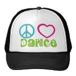 Danza del amor de la paz gorros