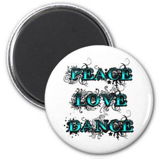 Danza del amor de la paz iman para frigorífico