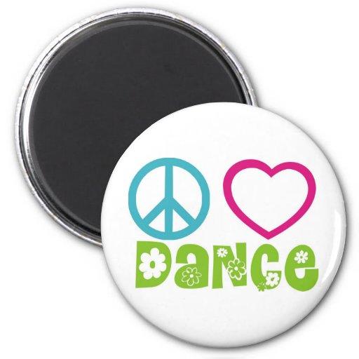 Danza del amor de la paz imán de nevera