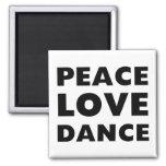 Danza del amor de la paz imán de frigorífico