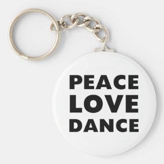 Danza del amor de la paz llavero