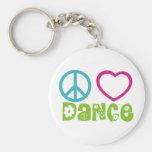 Danza del amor de la paz llaveros personalizados