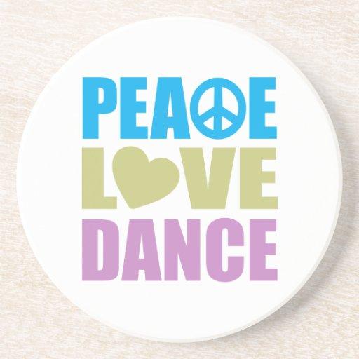 Danza del amor de la paz posavaso para bebida