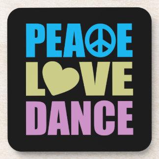 Danza del amor de la paz posavasos de bebidas